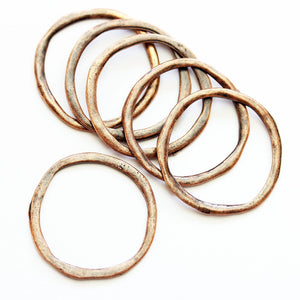 Wavy Copper Loop 26mm Charms - 6pcsCharm by Halcraft Collection
