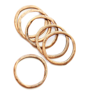Wavy Copper Loop 23mm Charms - 6pcsCharm by Halcraft Collection