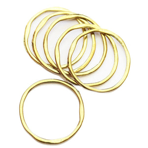 Wavy Gold Tone Loop 31mm Charms - 6pcsCharm by Halcraft Collection