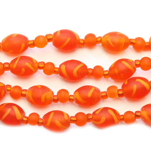 Orange Mix Indian Glass Multi String 4-11mm BeadsBeads by Halcraft Collection