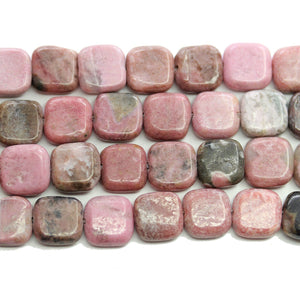 Rhodonite Stone Square 10mm BeadsBeads by Halcraft Collection