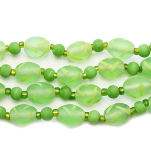 Green Mix Indian Glass Multi String 4-11mm BeadsBeads by Halcraft Collection