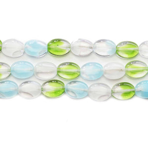 Czech Glass Aquatic Mix Oval 9x11mm BeadsBeads by Halcraft Collection