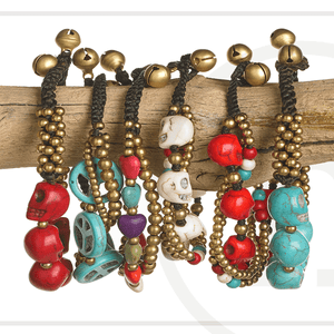 Peace, Love & Skulls BraceletsBracelets by Halcraft Collection