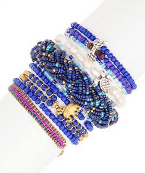 Seashore Angels Deep Blues StackBracelets by Halcraft Collection