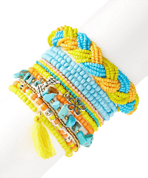 Ocean Sunrise Bright Day StackBracelets by Bead Gallery
