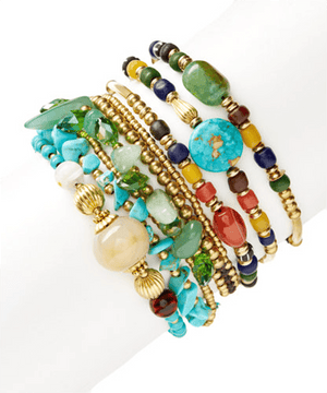 Natural Stone Essence StackBracelets by Halcraft Collection