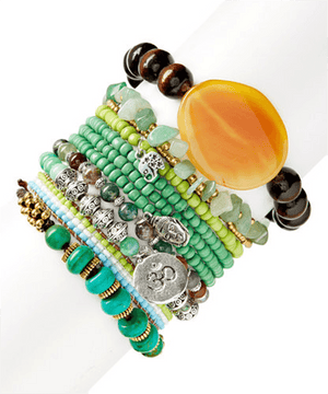 Stone & Ohm & Buddah Oh Yes! StackBracelets by Bead Gallery