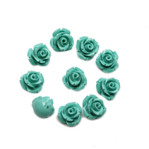 Turquoise Resin Flower 10mm BeadsBeads by Halcraft Collection
