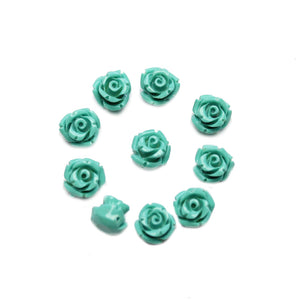 Turquoise Resin Flower 8mm BeadsBeads by Halcraft Collection