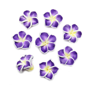 Purple Polymer Clay Flowers 16mm BeadsBeads by Halcraft Collection