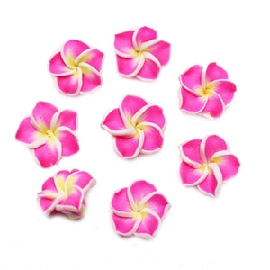 Pink Polymer Clay Flowers 16mm BeadsBeads by Halcraft Collection