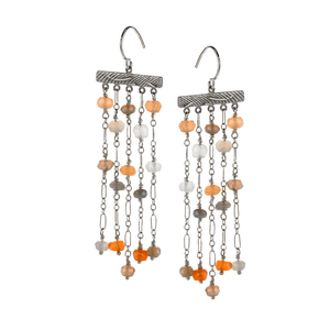 Moonstone Chandelier EarringsJewelry by Halcraft Collection