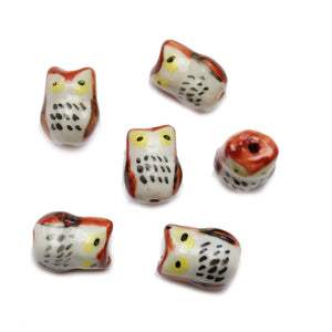 Brown Ceramic Owl 12x17mm BeadsBeads by Halcraft Collection