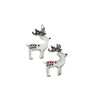 Enameled Metal Reindeeer 17x22mm Charms - 2pcsCharm by Halcraft Collection