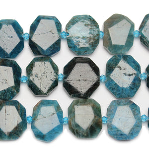 Apatite Faceted Stone 18x22mm Rectangle BeadsBeads by Halcraft Collection