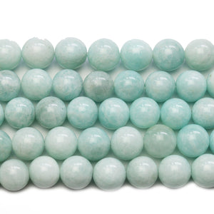 Madagascar Amazonite Stone (A Quality) Round 10.5mm BeadsBeads by Halcraft Collection