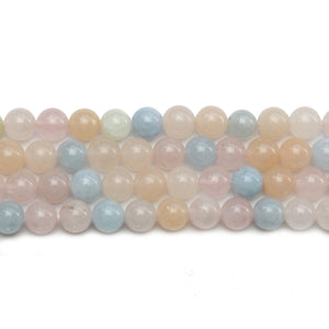Morganite (A Quality) Stone Round 6.5mm BeadsBeads by Halcraft Collection