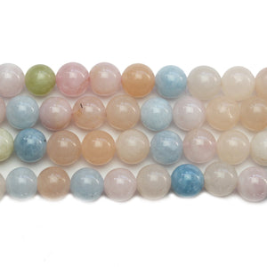 Morganite (A Quality) Stone Round 8mm BeadsBeads by Halcraft Collection