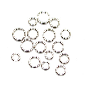 Super Bundle - .925 Silver Perfect Jump Ring Heavy Weight Wire Round (sizes 6mm, 7mm, 8mm, 9mm)Findings by Halcraft Collection