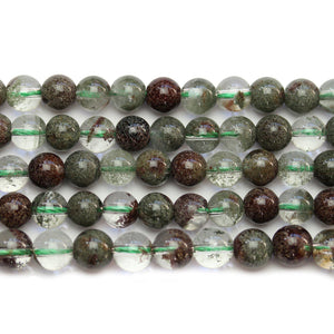 Green Lodalite Stone Round 7mm BeadsBeads by Halcraft Collection
