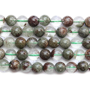 Green Lodalite Stone Round 8mm BeadsBeads by Halcraft Collection