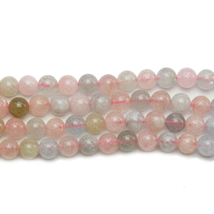 Morganite (AA Quality) Stone Round 6.4mm BeadsBeads by Halcraft Collection