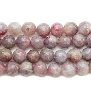Pink Tourmaline Stone Round 9.8mm Beads by Bead Gallery