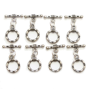 Silver Plated Dotted Metal Toggles 14mmFindings by Halcraft Collection