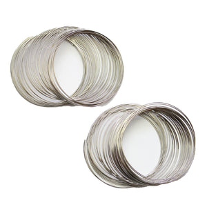 Super Bundle - Silver Tone Memory Wire - 2 packsFindings by Halcraft Collection