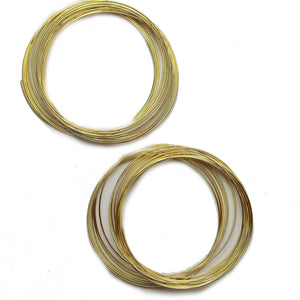 Super Bundle - Gold Tone Memory Wire - 2 packsFindings by Halcraft Collection
