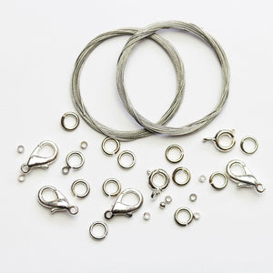 Tigertail Wire Kit (Makes 8 Necklaces) - 2 packsFindings by Halcraft Collection
