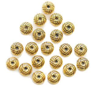 Cuentas de metal dorado en tono dorado Rondell de 5x10 mm de Halcraft Collection
