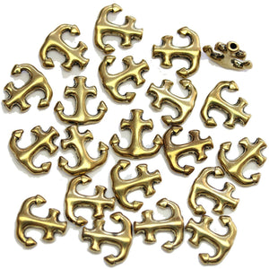 Antique Gold Tone Metal Anchor 14mm Beads By Bead Gallery