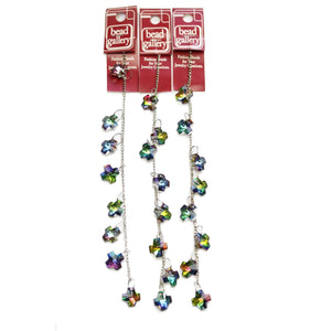 Super Bundle - Multi AB Glass Faceted Cross 14mm Dangle(3packs/24pcs)Beads by Halcraft Collection