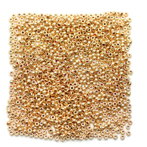 Czech Gold Tone 11/0 Seed BeadsBeads by Halcraft Collection