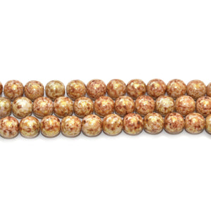 Super Bundle - Topaz Coated Czech Glass Round 8mm Beads by Bead Gallery