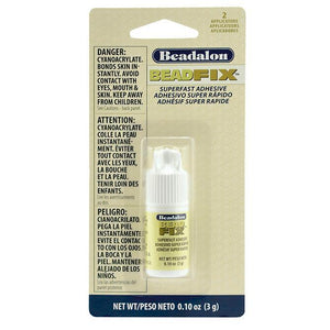 Beadfix Adhesive, 3 G (.11 Oz), with 2 Precision Tips [No Canada Orders/No Air Shipping]Findings by Bead Gallery