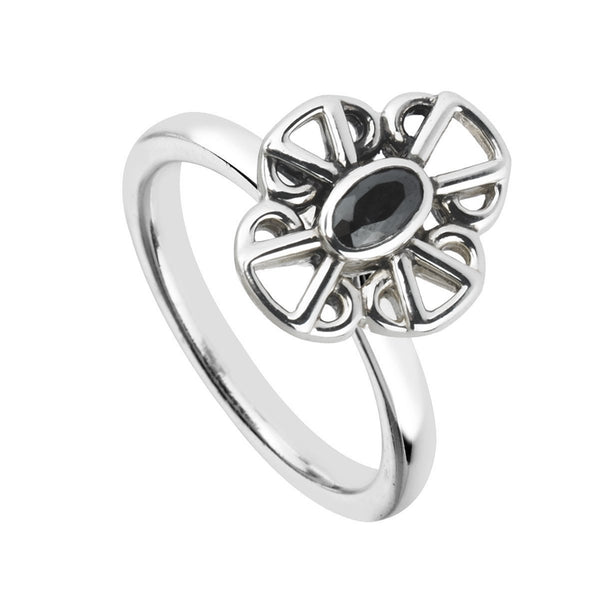 Rings, Black, Silver, Sterling Silver, Cubic Zirconia, 4, 5, 6, 7, 8, 9