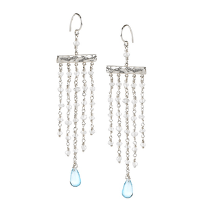 Moonstone & Blue Topaz EarringsJewelry by Halcraft Collection