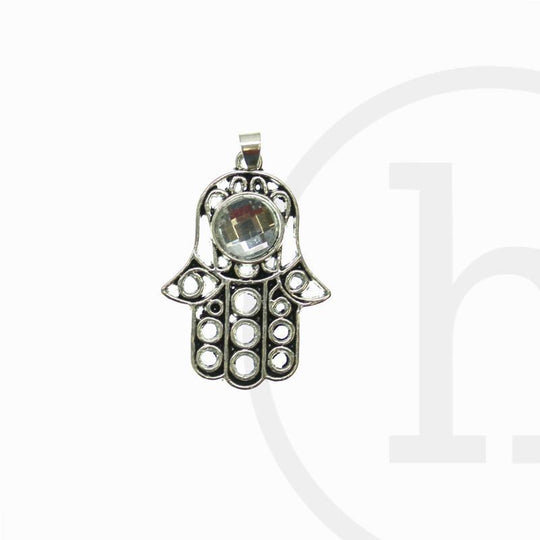 Silver Plated Hand 30X23mm  CharmCharm by Halcraft Collection