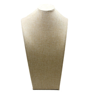 Khaki Fabric Neck Stand 7.5 x 14 inches