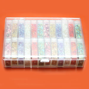 Plastic Storage 24 cases 4 x 6.25 x 1.25 inches deep