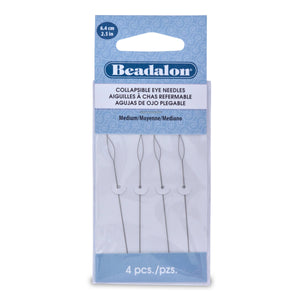 Collapsible Eye Needles, 2.5 in (6.4 Cm), Medium, 4 PcFindings by Halcraft Collection