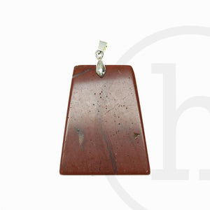 45X37mm  Red Jasper TrapezoidPendant by Halcraft Collection