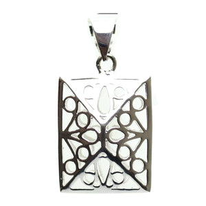 Silver Plated Hollow Filigree Rectangle 20x30mm  PendantPendant by Bead Gallery