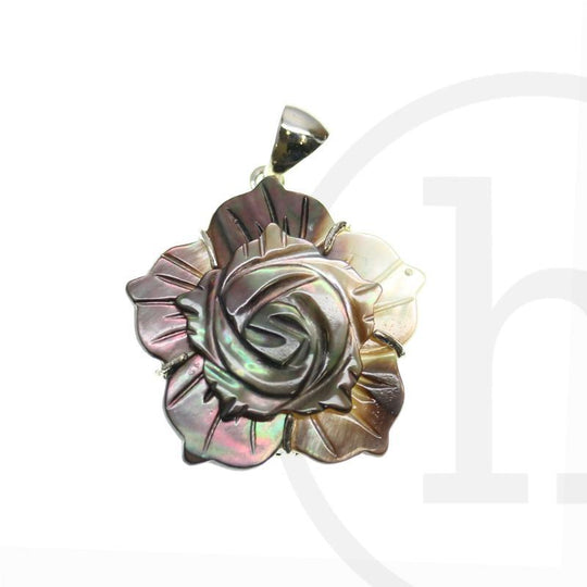 Natural Flower Shell 30mm Pendant by Halcraft Collection