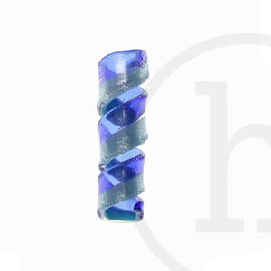 50X15mm  Two Tone Sapphire SwirlPendant by Bead Gallery