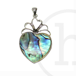 Abalone & Silver HeartPendant by Bead Gallery
