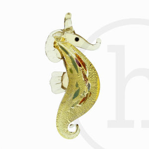 27mm, 65mm, 65x27mm, Amber, Glass, Glass Pendant, Pendant, Seahorse